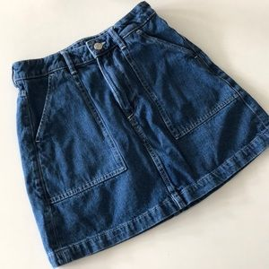 H&M high waisted denim skirt
